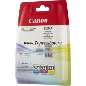 Cartus cerneala Canon CLI-521 C/M/Y